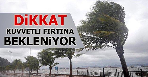 Akdeniz'e kuvvetli fırtına uyarısı
