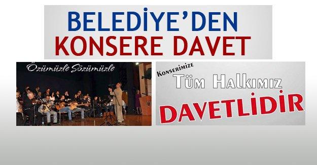 Belediye'den fasıl konserine davet