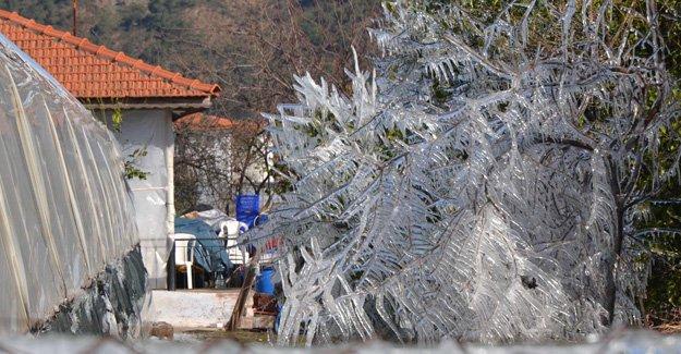 Silifke'de buzlu günler başladı