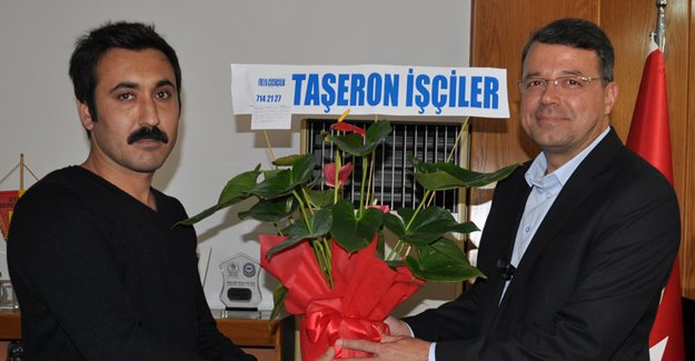 Taşeron işçilerden Turgut'a teşekkür