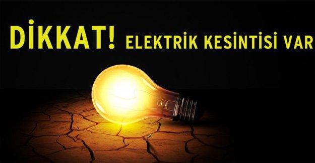 Silifke'de Elektrik Kesintisi