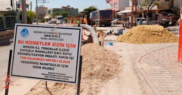 Meski Çavuşlu Mahallesinin İçmesuyu Alt Yapısını Yeniliyor