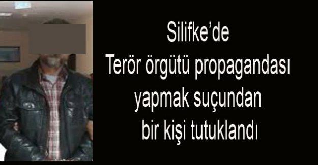 SİLİFKE'DE TERÖR ÖRGÜTÜ PROPAGANDASI