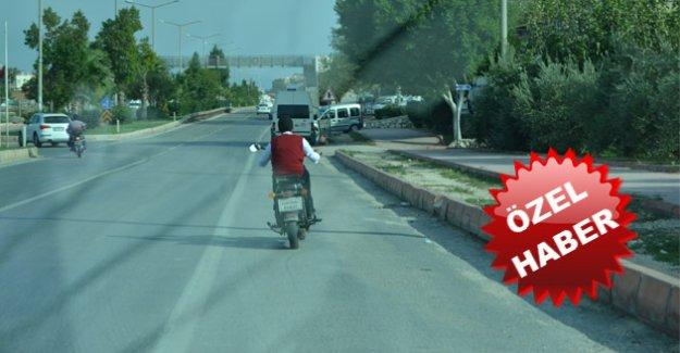 Hem trafik hem kanun ihlali yapılıyor