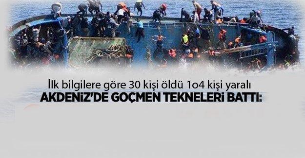 Akdenizde mülteci teknesi battı