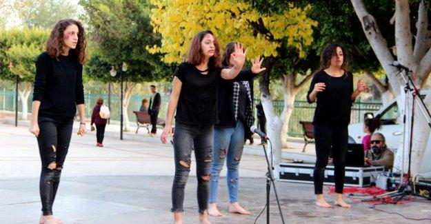 Silifke'de Kadına şiddette gösteriyle dikkat çekildi