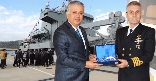 TCG Akar Komutanı Gülcan'dan Kaymakam Cinbir'e ziyaret