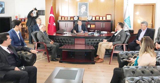 Aday Özel, Başkan Turgut'u ziyaret etti