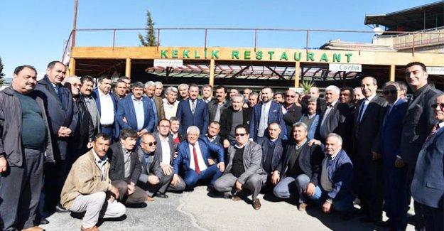 Cumhur ittifakı adayları Silifke'de Muhtarlarla Buluştu