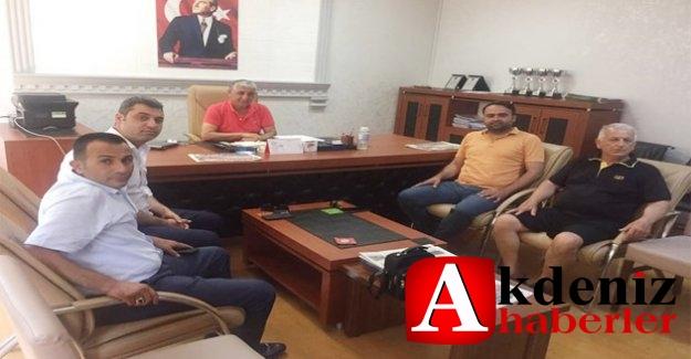 Belediye Sporlu yöneticilerden Mersin ASKF'ye ziyaret