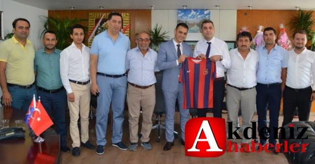 Belediyespor yönetiminden Başkanvekili Sadık Altunok'a ziyaret