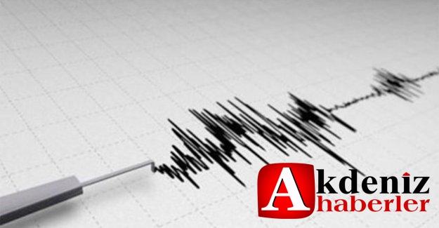 Akdeniz'de Şiddeti 4.3 Deprem meydana geldi