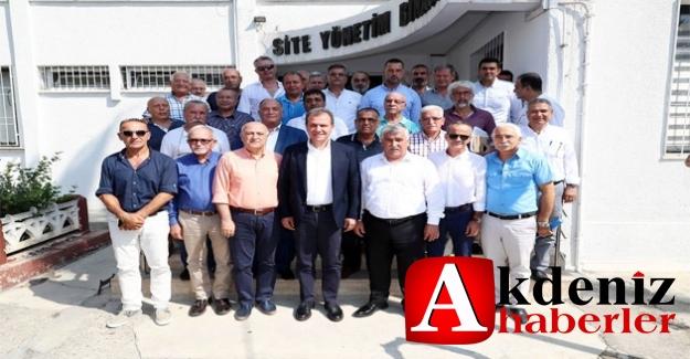 Başkan Seçer, Sanayi Sitesi Yönetimi İle Bir Araya Geldi