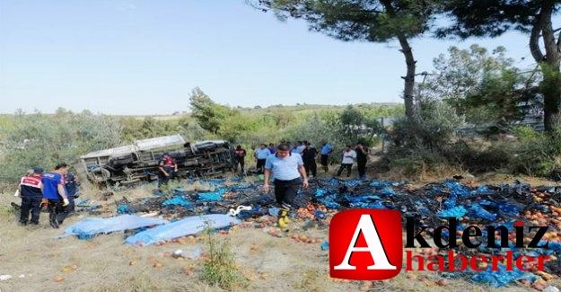 Mersin Toroslar Arslanköy'de  Kaza; 1 Ölü 12 Yaralı