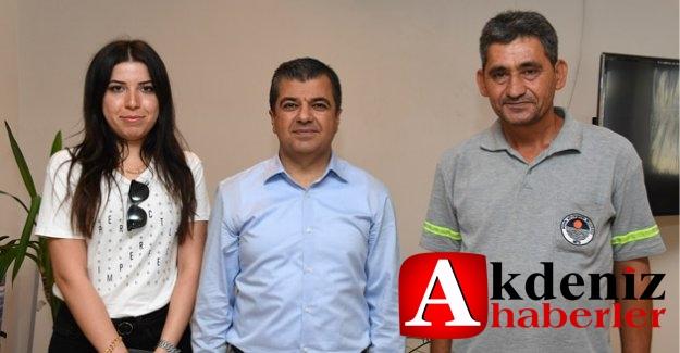 Büyükşehir Belediyesi Personeli Erdal Duru'dan Örnek Davranış