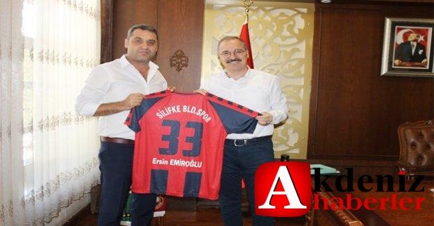 Silifke Belediye Spor Yöneticilerden Kaymakam Emiroğlu'na  ziyaret