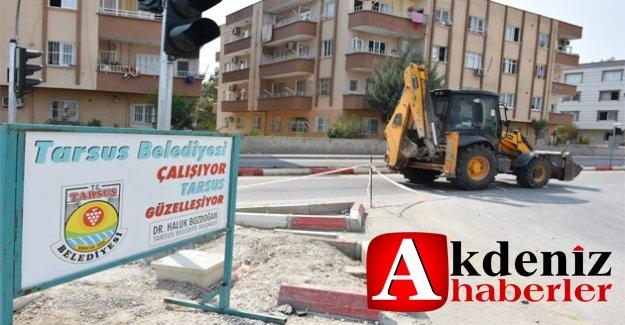 """Tarsus Belediyesi """"Sorunlu Kavşağı"""" Yeniden Düzenliyor"""