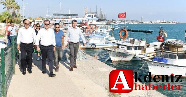 Başkan Seçer, Taşucu Limanı'nda İncelemelerde Bulundu