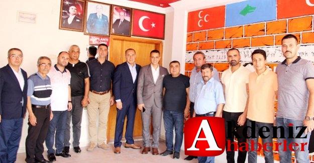 Sözlü'den, MHP Silifke Teşkilatına ziyaret