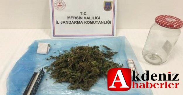 Silifke'de, aracında uyuşturucu ele geçirilen şüpheli gözaltına alındı