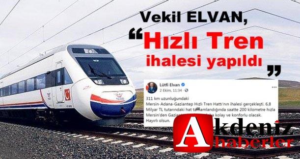 Mersin Milletvekili Elvan'dan Müjde!