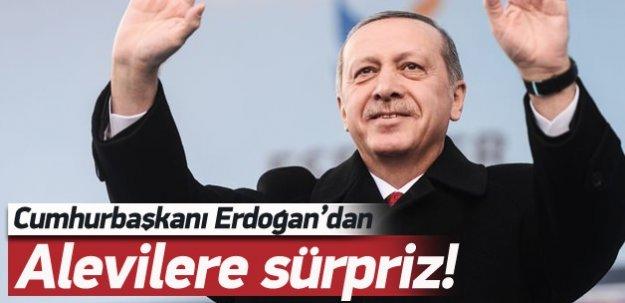 Erdoğan'dan Alevilere sürpriz