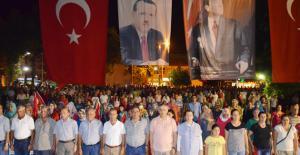 Silifke'de demokrasi nöbeti bitti coşkusu bitmedi
