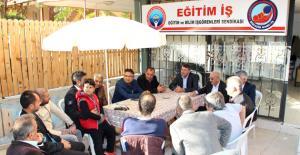 Başkan Turgut'tan Eğitim-İş Sen'e ziyaret