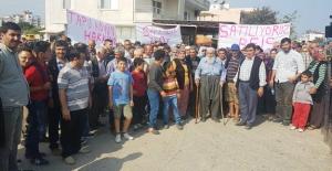 Evlerin ve tarlaların bulunduğu arazinin satışına tepki