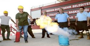 Gökçebelen Şantiyesi'nde Yangın Tatbikatı Yapıldı