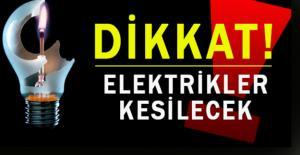 Perşembe günü elektrik kesintisi uygulanacak