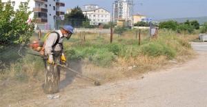 Silifke Belediyesi'nden, Kaldırım Ve Yol Kenarlarına Temizlik